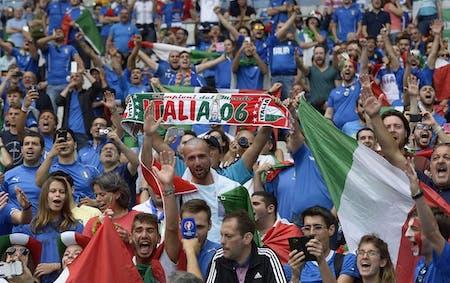 Lo Striscione speciale Italia – Liechtenstein