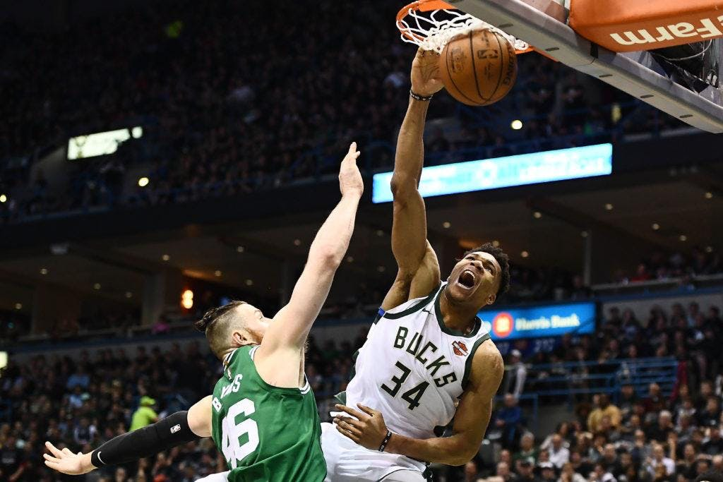 Giannis Antetokounmpo dei Milwaukee Bucks